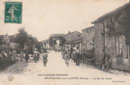 55 Chatillon Sous Les Cotes. La Rue Du Centre - France