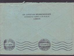 Deutsches Reich DR. CHRISTIAN  BRUNNENGRÄBER Chemische Fabrik LÜBECK 1932 Cover Brief HELSINKI Finland 40 Pf Hindenburg - Briefe U. Dokumente