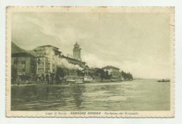 LAGO DI GARDA - GARDONE RIVIERA - PARTENZA DEL PIROSCAFO   VIAGGIATA FP - Brescia