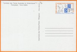 T.A.A.F.   Entier Amiral Max Douguet  2.30RF    NEUF - Entiers Postaux