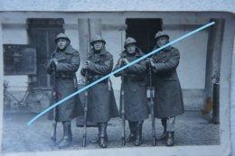 Photo ABL Soldats Belges Fusil Mauser Baïonnette Militaria Armée Belge Belgische Leger Circa 1930 - Guerre, Militaire