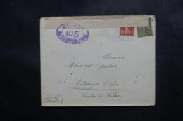 FRANCE - Enveloppe Pour La Suisse En 1917 Avec Contrôle Postal - L 47572 - Storia Postale