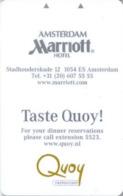 OLANDA  KEY HOTEL   Marriott Hotel  Amsterdam - Hotelkarten
