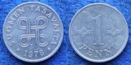 FINLAND - 1 Penni 1978 KM# 44a Monetary Reform (1963-2001) - Edelweiss Coins - Finlandia
