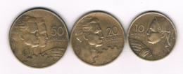 10+20+50  DINARA 1955 JOEGOSLAVIE /8725/ - Jugoslawien