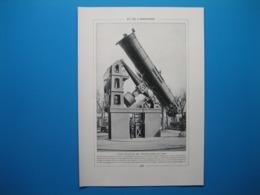 (1926) Grand TÉLESCOPE De L'observatoire De Paris -- Observatoire Installé Au JUNGFRAUJOCH (Suisse) - Non Classés