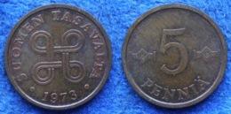 FINLAND - 5 Penniä 1973 KM# 45 Monetary Reform (1963-2001) - Edelweiss Coins - Finlandia