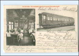 XX007408/ Deutsche-Eisenbahn-Speisewagen-Gesellschaft AK 1904 - Spoorwegen