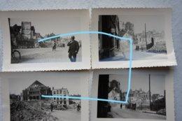 Photox10 NIVELLES Bombardement 1940 Ruines Vieilles Rues Wesfront WW2 Militaria Guerre - Krieg, Militär