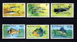 SAINT  VINCENT     1975    Marine  Life    Part  Set  Of  6    MNH - St.Vincent (...-1979)