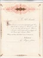 Nobile Società, Lettera Di Invito A Festeggiare La VI Riunione  Degli Scienziati Italiani. Milano Il 09 Settembre 1844 - Partecipazioni