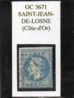 Côte-d'Or - N° 29B Obl GC 3671 Saint-Jean-de-Losne - 1863-1870 Napoléon III Lauré