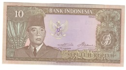 Indonesia 10 Rupiah 1960 UNC - Indonesia