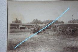 Photo ABL WW1 Canon Geschütz Artillerie Artillery Belgian Army Tenue Yser Ijzer - Oorlog, Militair