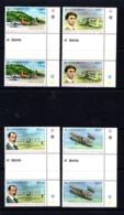 SAINT  VINCENT     1978    75th  Anniv  Of  Powered  Flight    Set  Of  4  Gutter  Pairs     MNH - St.Vincent (...-1979)