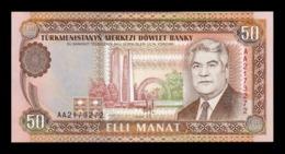 Turkmenistan 50 Manat 1993 Pick 5a SC UNC - Turkmenistán