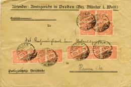 (Lo3791) Brief DR Dienst St. Verden N. Hamm - Allemagne