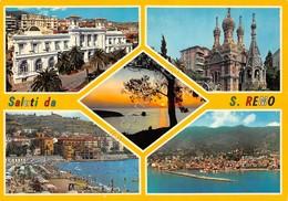 Cartolina S. Remo Vedute Timbro A Targhetta Campionato Postelegrafonici Tennis - Imperia