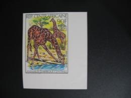 Timbre ND non Dentelé Neuf ** MNH - Imperf   Girafes Centrafrique N° 504 - Giraffes