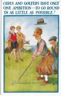 CARD GOLF UMORISMO   RAGAZZE GOLFISTE E GOLFISTI HANNO UNA SOLA AMBIZIONE......  - FP-N-2-   0882- 29239 - Golf