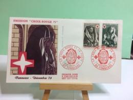 Croix Rouge La Poste (Tonnerre Décembre 73)(n°...) - 89 Tonnerre - 1.12.1973 FDC 1er Jour Coté 4€ - 1970-1979