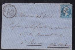 France, Ardennes - GC 2148 De Machault Sur Enveloppe De 1865 - Indice 7 - Poststempel (Briefe)