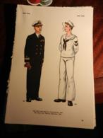 1) DIVISA MILITARE USA COMANDANTE MARINA E MARINAIO - ITALIA REGIA MARINA TENENTE VASCELLO E GRADUATO - Uniforms