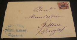 1878 -19 GENNAIO_FROM MILAN TO BETTONA THE FIRST MONTH OF EMISSION _VIAGGIATA 1° MESE EMISSIONE - 1878-00 Umberto I