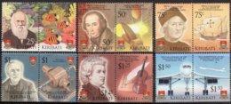 Kiribati 2006 Yvertn°  603-614 *** MNH  Cote 22,50 € Explorateurs Et Innovations - Kiribati (1979-...)