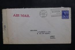 ETATS UNIS - Enveloppe De New York Pour La France En 1945 Avec Contrôle Postal - L 47594 - Marcophilie