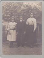 LOT De 2 PHOTOS De SAINT CYR SUR LOIRE (37) Au Nord De Tours - Yvonne , Charles Et Suzanne Geslin En 1911 Ou 1912 - Luoghi