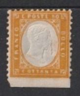 1862 Vittoro Emanuele II 80c Sassone 4k* - 1861-78 Victor Emmanuel II.
