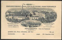 Luxembourg Luxemburg Manternach Papierfabrik U. Holzschleiferei Lamort Bahnstation Wecker - Cartes Postales