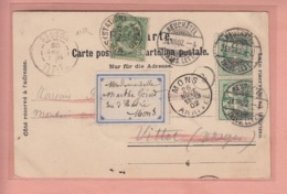 OUDE POSTKAART ZWITSERLAND - SCHWEIZ -  SUISSE -    NEUCHATEL - PLACE PURY 1902 - FRANKATUR - NE Neuchâtel