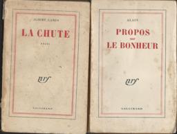 Alain Propos Sur Le Bonheur &  Albert Camus La Chute  - édit Gallimard De 1948 Et 1957 - Livres, BD, Revues