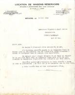 34  BEZIERS  LOCATION DE WAGONS RESERVOIRS  -  COULOMBIE GUY     -  LETTRE COMMERCIALE  JUIN 1943  POUR PENNE D AGENAIS - Alimentos