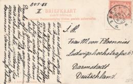 Nederlands Indië - 1908 - 5 Cent Cijfer Op Ansicht Van GR GAROET Naar Darmstadt / Deutschland - Wajang Orang - Nederlands-Indië