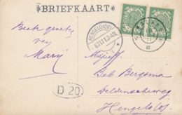 Nederlands Indië - 1911 - 2x2,5 Cent Cijfer Op Ansicht Van GR MALANG Naar Hengelo / NL - Brug Bij Pontjo??soemo - Nederlands-Indië