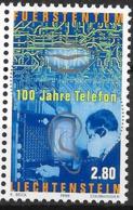 1998 Liechtenstein Mi. 1189 **MNH   100 Jahre Telefon In Liechtenstein. - Ongebruikt
