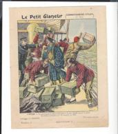 """COUVERTURE CAHIER  """" Le Petit Glaneur """" 5 Pièces Chine Opium - Feux D'Artifice - Charbon De Bois - Fleurs - Scaphandre - Other"""