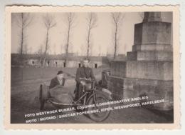 FOTO WESTHOEK BUNKER, COLONNE COMMEMORATIVE ANGLAIS / MOTO / MOTARD / SIDECAR POPERINGE, IEPER, NIEUWPOORT HARELBEKE.... - België