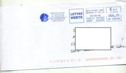 Lettre Flamme Ema Heillecourt   Mairie Chaligny - Marcophilie (Lettres)