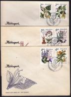 Poland 1990 / Therapeutic Plants, Flowers, Atropa, Datura, Valeriana, Mentha, Calendula, Salvia - Heilpflanzen