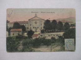 RARE CPA CPSM CP ALPES DE HAUTE PROVENCE 04 MANOSQUE 1907 - HÔPITAL SAINTE-BARBE / VUE FAÇADE - BE - Manosque
