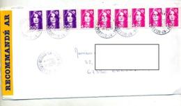 Lettre Recommandée Selestat Sur Briat - Manual Postmarks