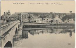 D08 - GIVET - LE PONT SUR LA MEUSE ET LA TOUR GREGOIRE - VALLEE DE LA MEUSE - Hommes Et Enfants Sur Le Pont - Givet