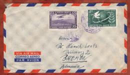 Luftpost, UPU U.a., San Jose Nach Bremen 1956 (82156) - Costa Rica
