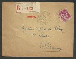 SEINE MARITIME / Cachet Agence Postale Rurale BLOSSEVILLE BONSECOURS / Recommandée 1933 - Postmark Collection (Covers)