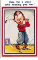 CARD GOLF UMORISMO  - FP-V-2-   0882- 29243 - Golf