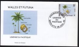 """Wallis & Futuna 2003 / Legends Of The Pacific - """"How The Eel Gave Birth To A Coconut"""" - Briefe U. Dokumente"""